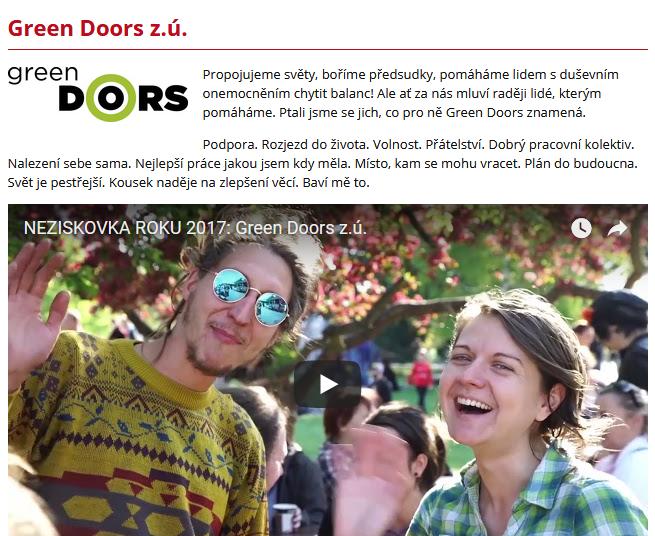 video-neziskovka roku - green doors